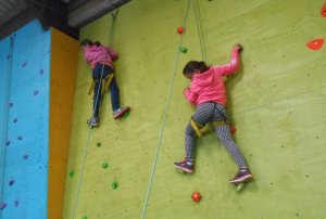 Again - the girls have it - Esme and Jess just keep climbing