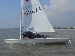 Cadet Commodore Harry takes quite a laid-back approach to the race