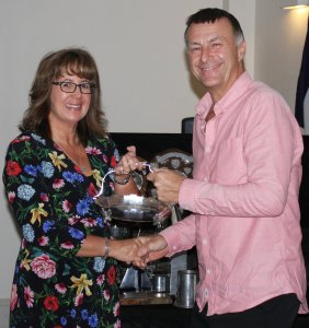 John Tappenden receives the Bill Geddes Trophy