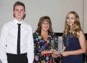 The Topaz Splash Trophy is awarded to Owen Hooper and Francesca Cottee
