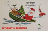 "Father Christmas is heading this way...""keep rowing Santa"""